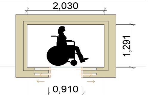 Ascensori per disabili caratteristiche e misure minime for Dimensioni finestre velux nuova costruzione