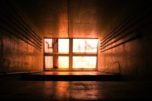 Il vano ascensore in cemento armato