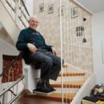 montascale con anziano