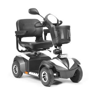 scooter elettrico per disabili con cestino nero