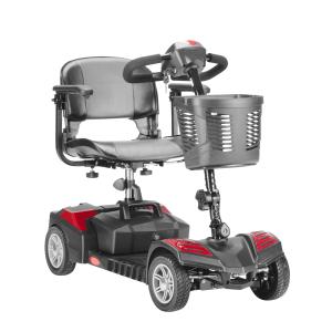 scooter elettrico per disabili con cestino rosso