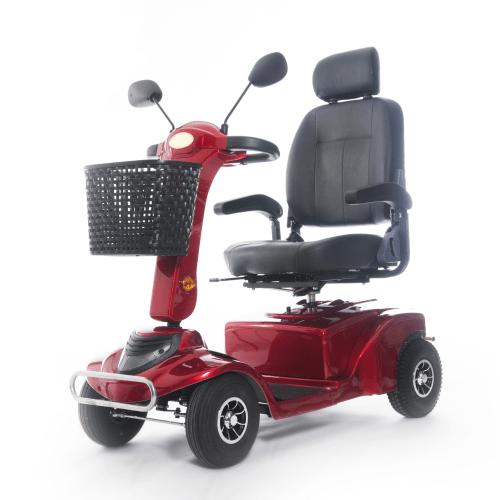 scooter elettrico per disabili rosso